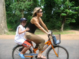 Biking in Cambodia
