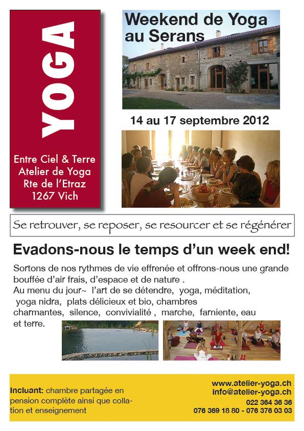 Yoga week-end in Serans